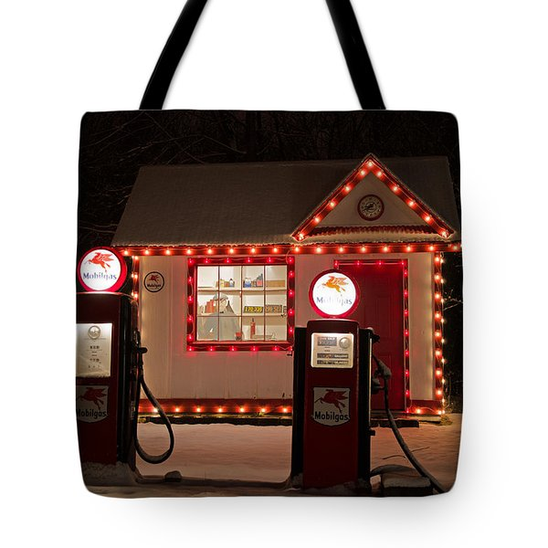 Holiday Service Station Tote Bag