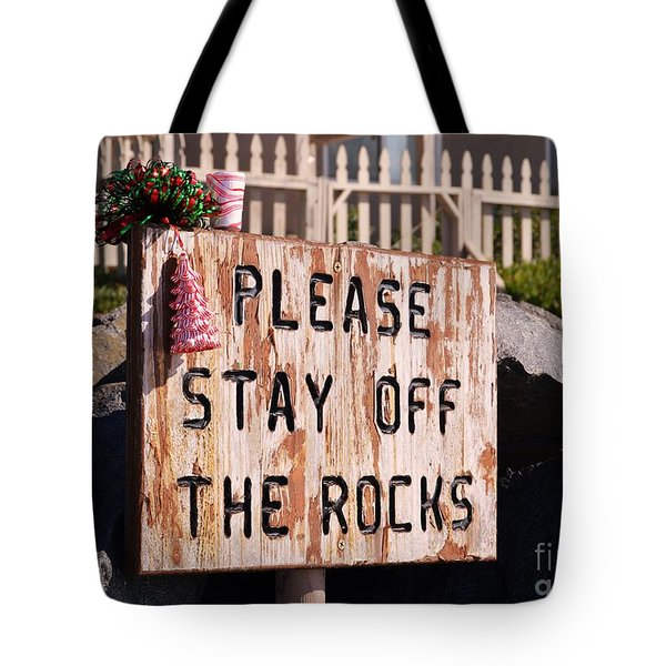 Tote Bag featuring the photograph Holiday Straight Up by Laurie Lundquist