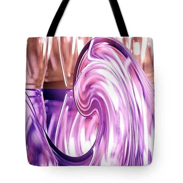 Holiday Wine Tote Bag by PainterArtist FIN