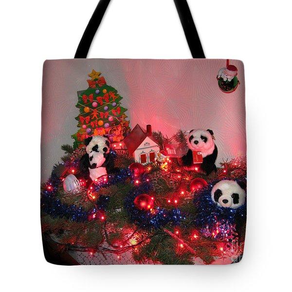 Holidays In Pandaland Tote Bag by Ausra Huntington nee Paulauskaite