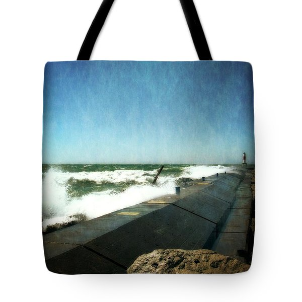 Holland Harbor Breakwater Tote Bag