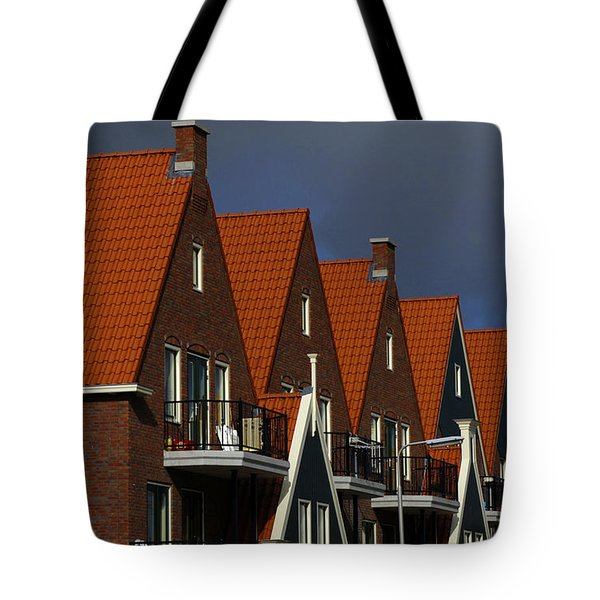 Holland Row Of Roof Tops Tote Bag by Bob Christopher