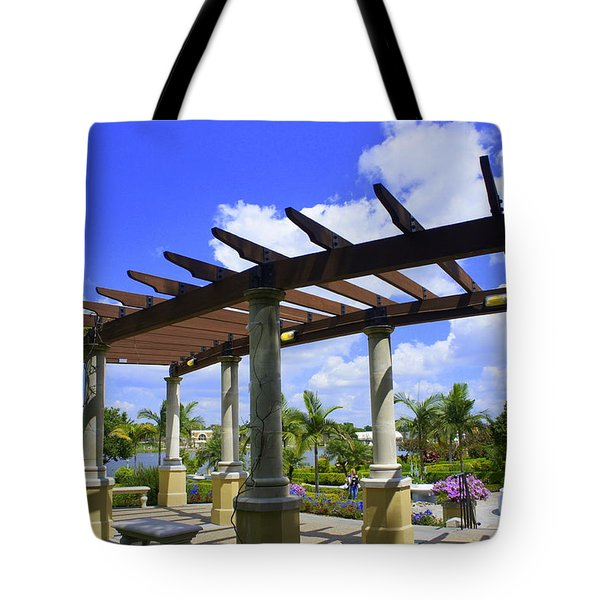Hollis Pergola Tote Bag by Laurie Perry