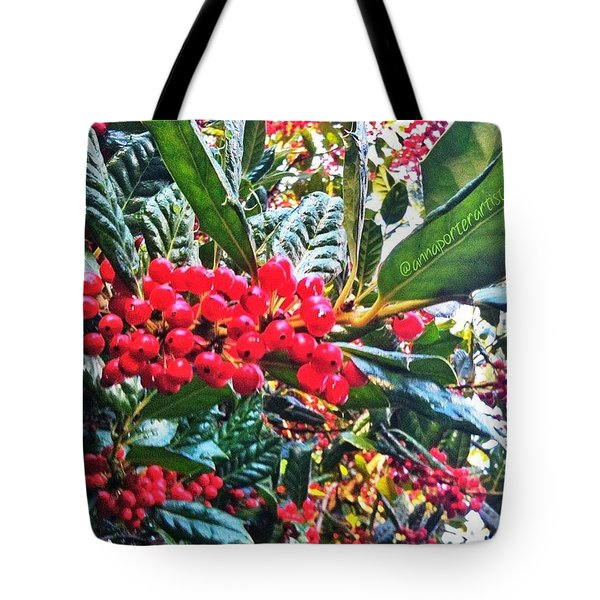 Holly Berries In The Sun Tote Bag