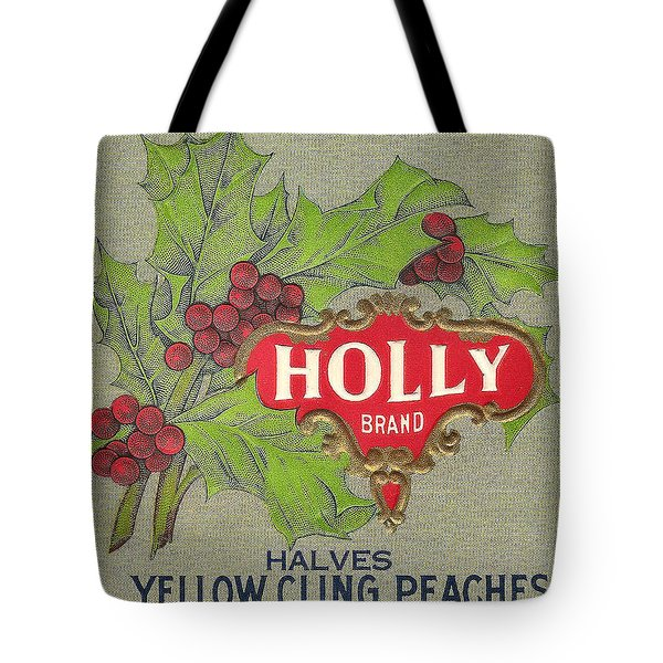 Holly Brand Yellow Cling Peaches Tote Bag by Studio Art