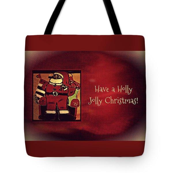 Holly Jolly Santa  Tote Bag