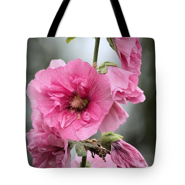 Hollyhock Tote Bag by Bonfire Photography