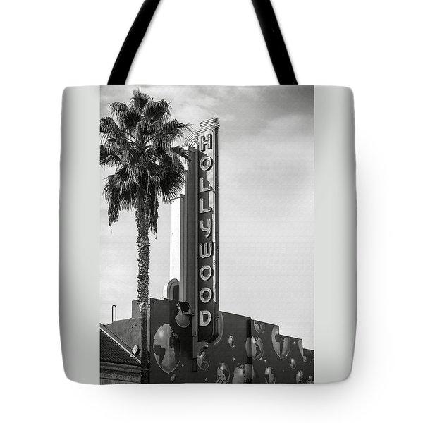 Hollywood Landmarks - Hollywood Theater Tote Bag
