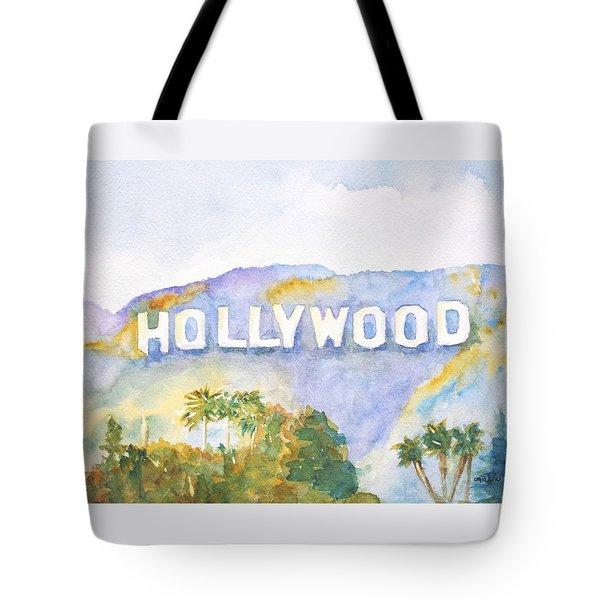 Hollywood Sign California Tote Bag