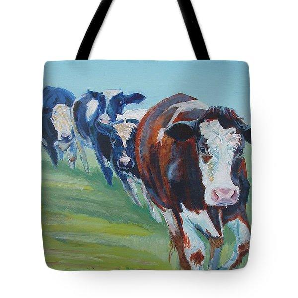 Holstein Friesian Cows Tote Bag
