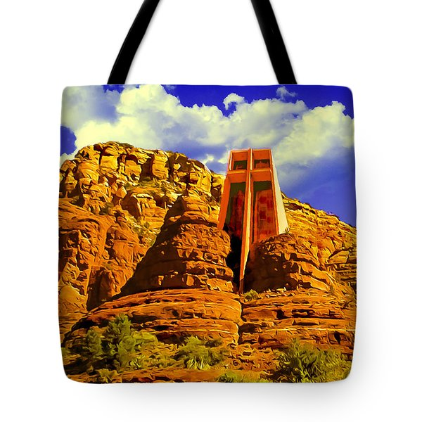 Holy Cross Chapel Coconino National Forest Tote Bag
