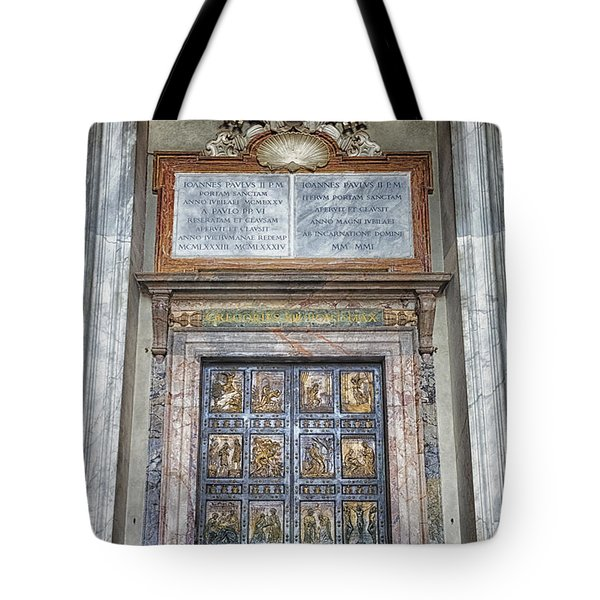 Holy Door Tote Bag by Joan Carroll