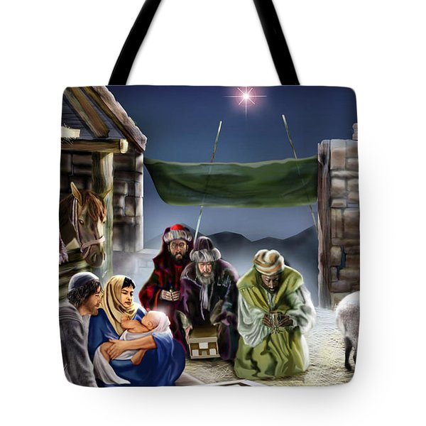 Holy Night Tote Bag by Reggie Duffie
