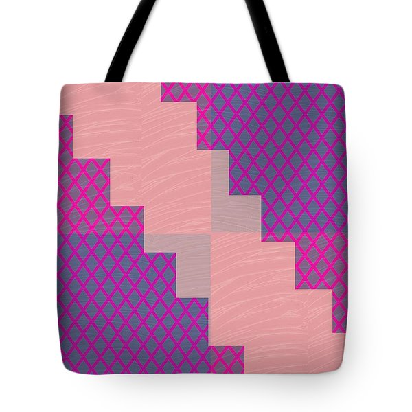 Tote Bag featuring the photograph Holy Purple Diamond Pattern And Silken Light Crystal Across by Navin Joshi