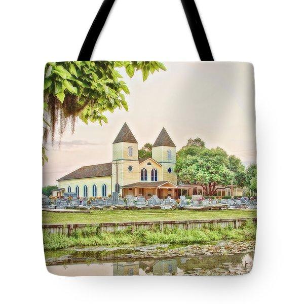Holy Rosary Church Tote Bag by Scott Pellegrin