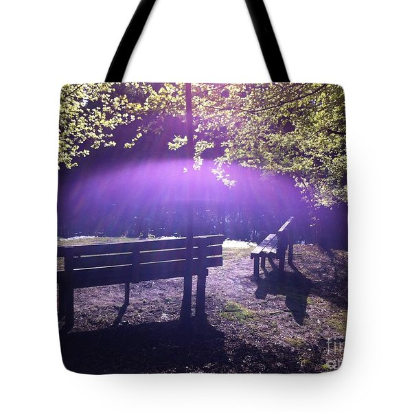 Holy Spirit Appears Sunday Morning Tote Bag