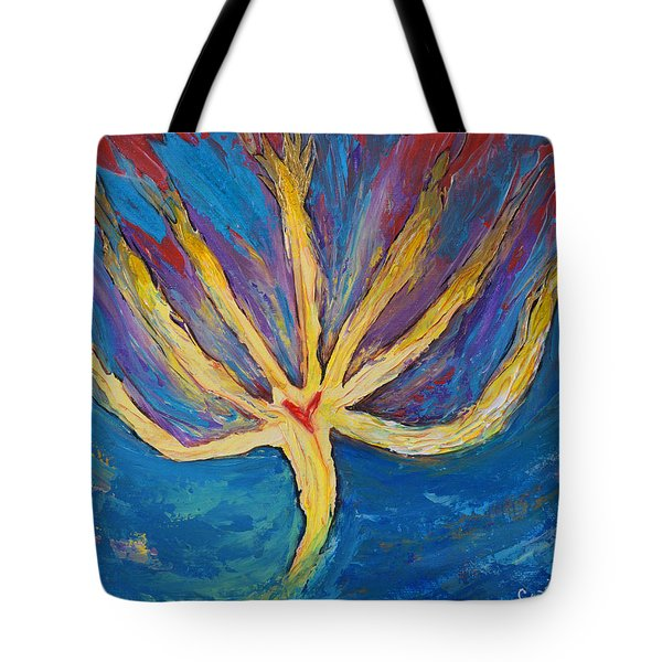 Holy Spirit Which Dwells In You Tote Bag by Cassie Sears