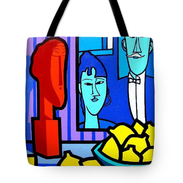 Homage To Modigliani Tote Bag by John  Nolan