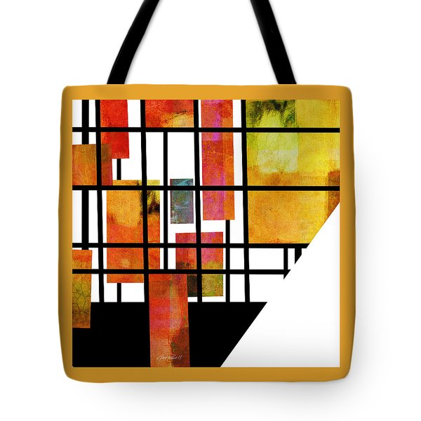 Homage To Mondrian Three Tote Bag by Ann Powell