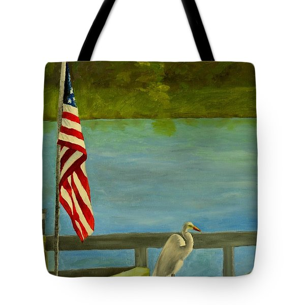 Home For The 4th Tote Bag by Nina Stephens