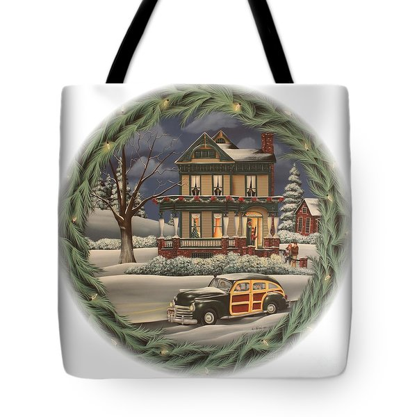Home For The Holidays Tote Bag by Catherine Holman