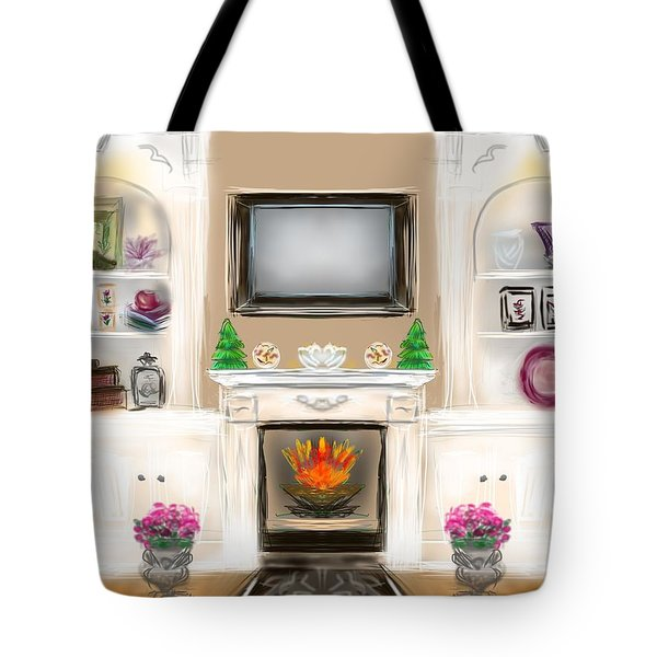 Tote Bag featuring the digital art Home For The Holidays by Christine Fournier