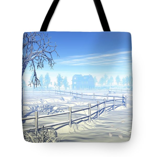 Home For The Holidays Tote Bag by John Pangia