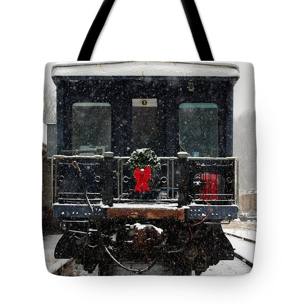 Home For The Holidays Tote Bag by Karen Lee Ensley