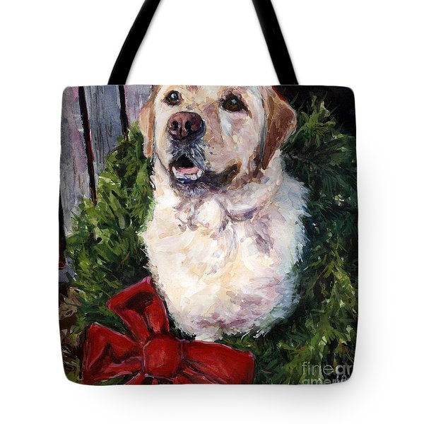 Home For The Holidays Tote Bag by Molly Poole