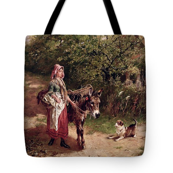 Home From Market Tote Bag by Edgar Bundy