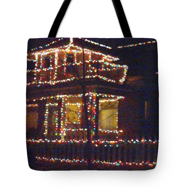 Home Holiday Lights 2011 Tote Bag by Feile Case