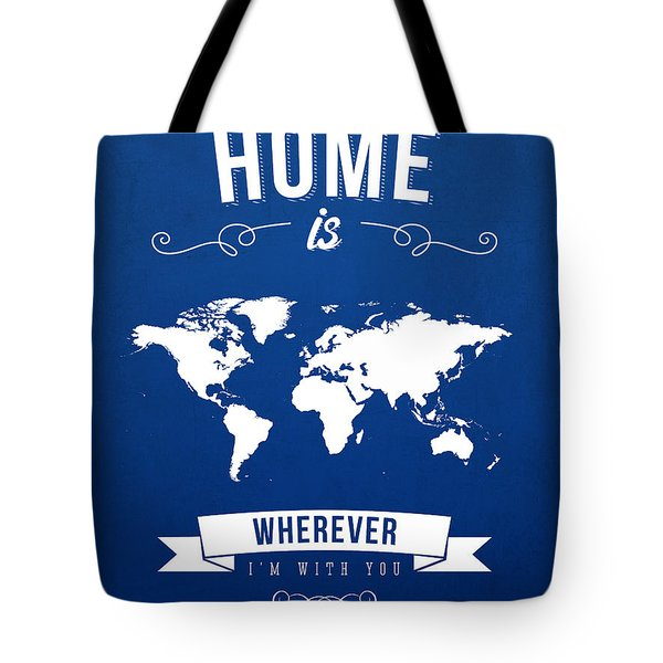 Home - Ice Blue Tote Bag