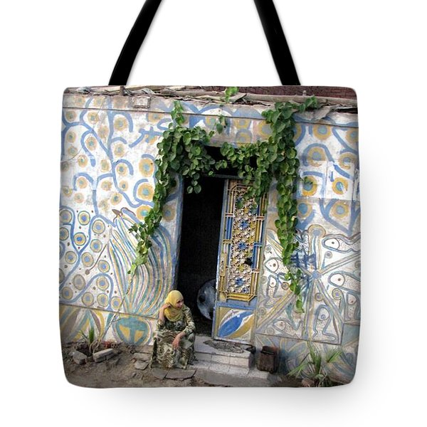 Tote Bag featuring the photograph Home In Ciro Egypt by Jennifer Wheatley Wolf