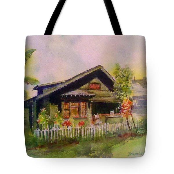 Tote Bag featuring the painting Home In Downtown Long Beach by Debbie Lewis