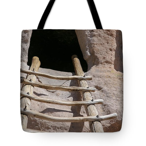 Home In Frijoles Canyon Tote Bag by Lynn Sprowl