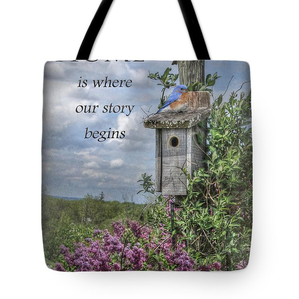 Home Is Where Tote Bag by Lori Deiter