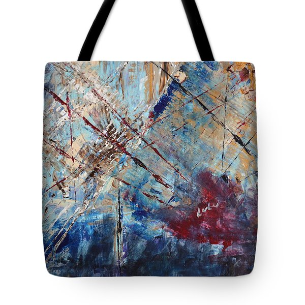 Tote Bag featuring the painting Home Is Where The Heart Is by Lucy Matta