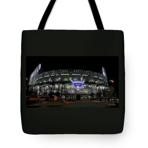 Tote Bag featuring the photograph Home Of The Cleveland Indians by Terri Harper