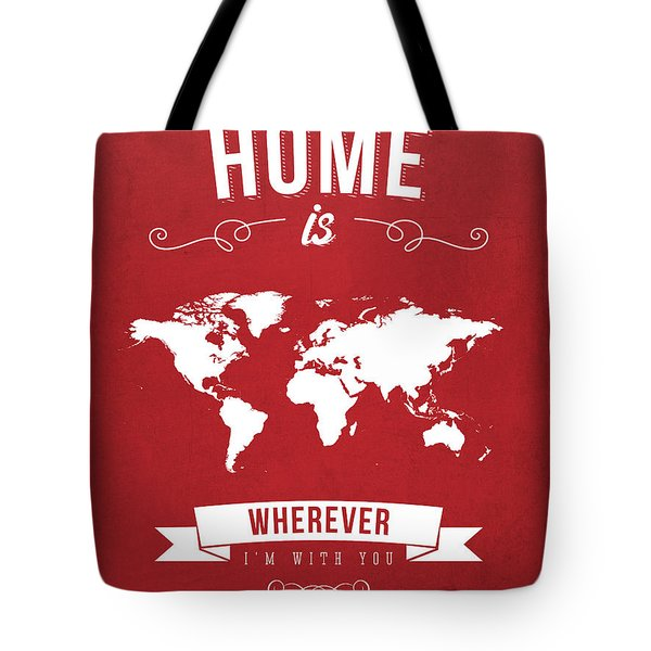 Home - Red Tote Bag