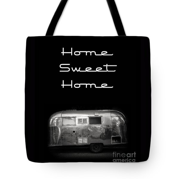 Home Sweet Home Vintage Airstream Tote Bag by Edward Fielding