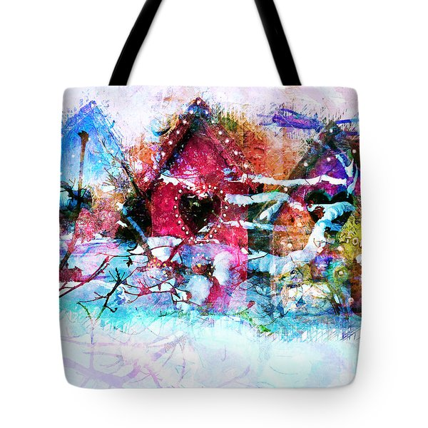 Home Through All Seasons Tote Bag