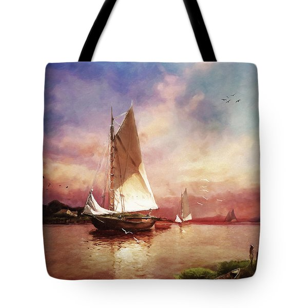 Home To The Harbor Tote Bag