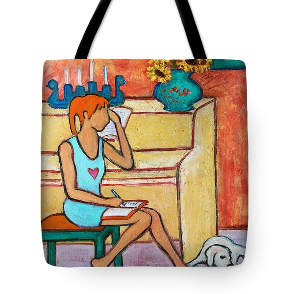 Tote Bag featuring the painting Home Where My Heart Is Iv by Xueling Zou