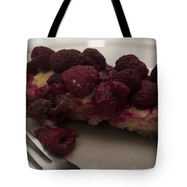 Tote Bag featuring the photograph Homemade Cheesecake by Miguel Winterpacht