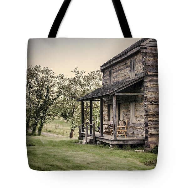 Homestead At Dusk Tote Bag by Heather Applegate