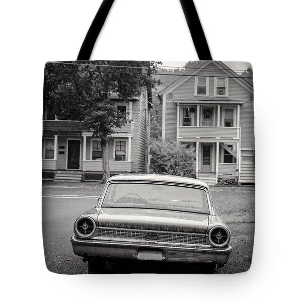 Hometown Usa Platium Print Tote Bag