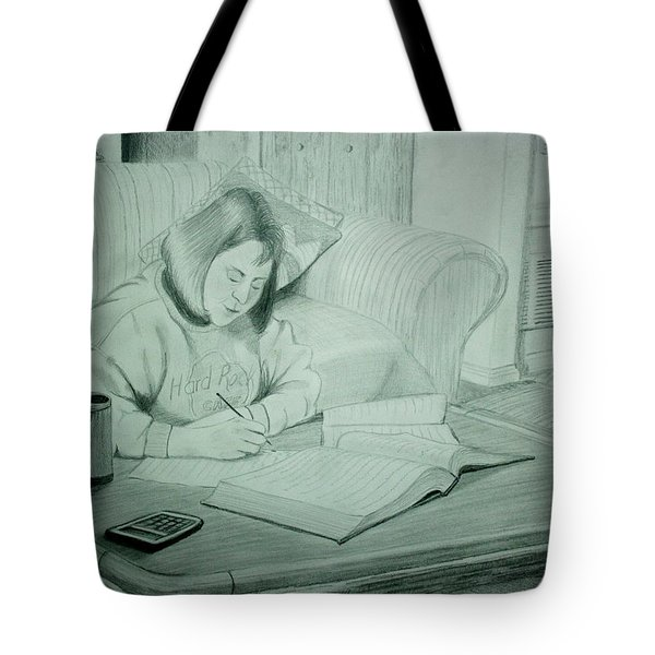 Homework Tote Bag by Stacy C Bottoms