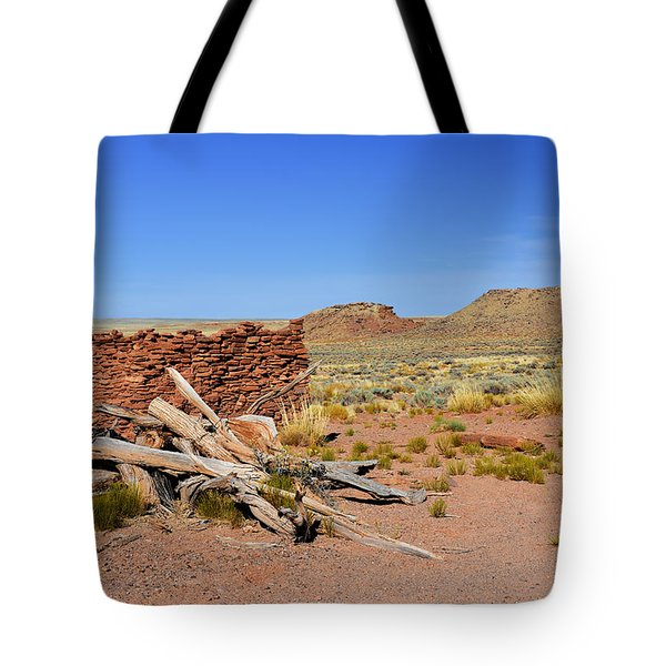 Homolovi Ruins State Park Arizona Tote Bag by Christine Till
