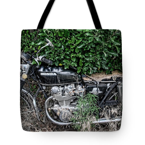 Honda 450 Motorcycle Tote Bag by Britt Runyon