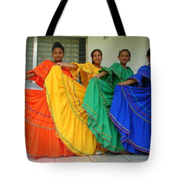 Honduran Dancers Tote Bag by Lew Davis